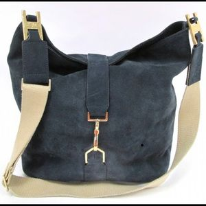 "India Hicks ""Edwina"" Hobo Suede Bag, Turquoise"
